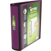 "Staples® Better Binder, 2"", Purple"