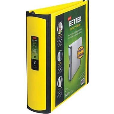 Staples - Reliure Better, jaune, 2 po