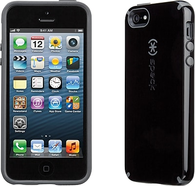 Speck CandyShell for iPhone 5, Black/Slate Grey