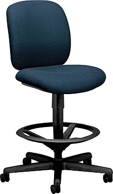 HON® ComfortTask® Armless Task/Swivel Stool, Fabric, Blue, Seat: 20