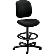 HON ComforTask Stool, Extended Height, Footring, Black Fabric (HON5905CU10T) NEXT2018 NEXT2Day