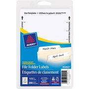 Avery® - Étiquettes permanentes pour chemises de classement, 3 1/2 po x 5/8 po