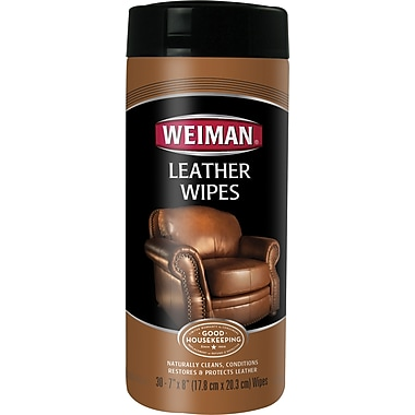 Weiman® Leather Wipes, 30 Wipes/Tub