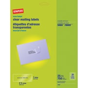 "Staples® Clear Inkjet/Laser Address Labels, 1"" X 2-5/8"", 750/Box"