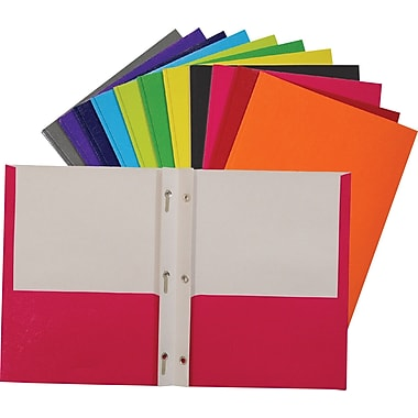 Staples® Twin Pocket & Prong Portfolio Red