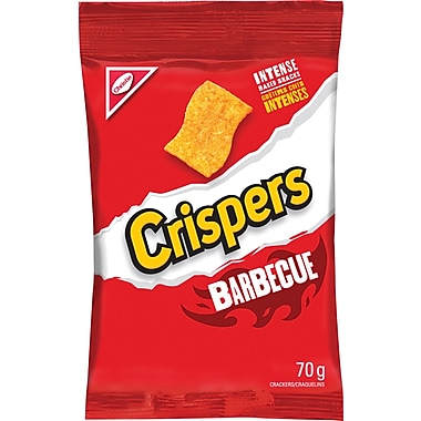 Christie Crispers BBQ Flavour, 70 g, 12/Pack