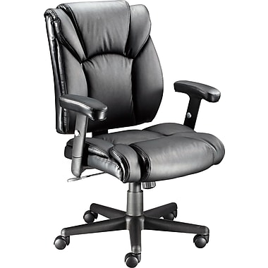 Staples® Luxura Faux Leather Task Chair with Arms Black  sc 1 st  Staples Canada & Staples® Luxura Faux Leather Task Chair with Arms Black | Staples