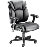 Staples® Luxura Faux Leather Task Chair with Arms, Black