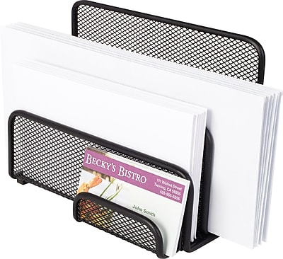 Staples® Wire Mesh Letter Holder/Sorter, Black, 5 1/5