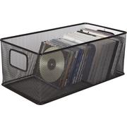 Staples Black Wire Mesh Large DVD Storage Box
