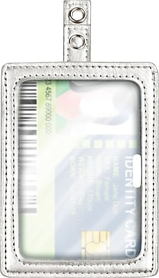 Cosco® MyID™ Silver ID Badge Holder for Key Cards and ID Cards, 4