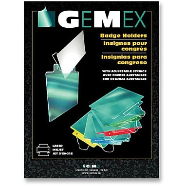 Gemex Badge Holders with Adjustable String, 3
