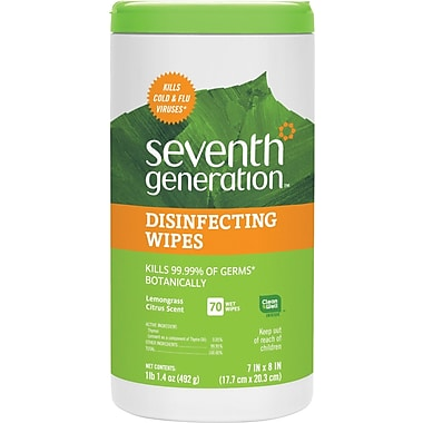 Seventh Generation® Disinfecting Multi-Surface Wipes, 70 Wipes/Tub