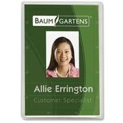 BaumgartensMD – Porte-carte pour carte d'identité, vertical, transparent, 25/paquet