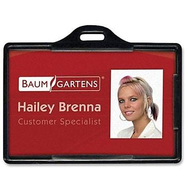 Baumgartens® ID Card Holder, Horizontal, Black, 25/Pack