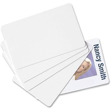 Baumgartens® PVC ID Cards, White, 100/Pack