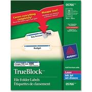 "Avery® TrueBlock Laser Filing Labels, 2-1/32"" x 3-7/16"", 600/Pack"