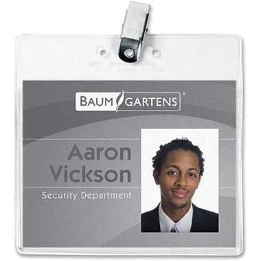 Baumgartens® Badge Holder with Clip, 3