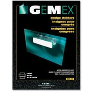 "Gemex Badge Holders with Magnetic Clip, 2-1/4"" x 3-1/2"", 20/Pack"