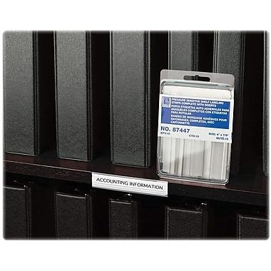 C-LineMD – Bandes d'étiquetage pour tablettes, 4 x 9/10 po, transparentes, 10 par paquet