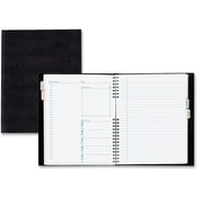 "Blueline NotePro Daily Planner, 9-1/4"" x 7-1/4"", Black, 192 Pages"