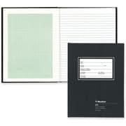 BluelineMD – Cahier de physique, 10 1/2 x 8 po, noir, 200 pages