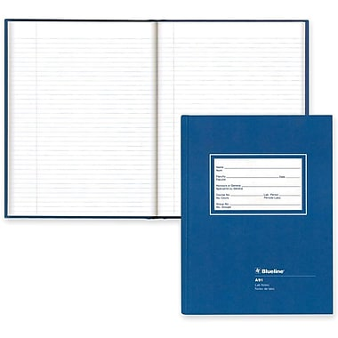 Blueline® Hardcover Lab Composition Book, 10-1/2