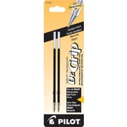 Pilot Dr. Grip Ball Point Retractable Refill, Medium Point, Black, 2/Pack (77227)