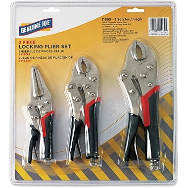 Genuine Joe 3-Piece Plier Set, with Case
