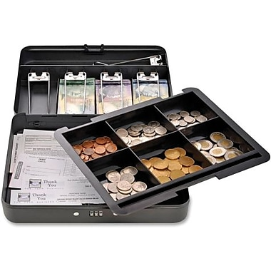 SteelMaster® Compact Cash Box with Combination Lock, Black