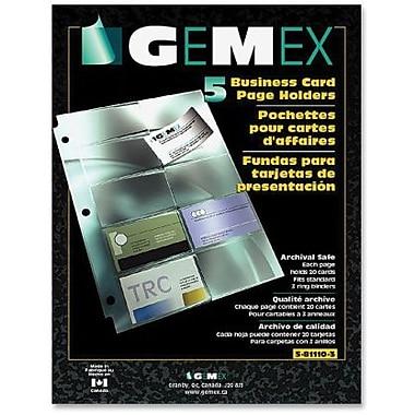 Gemex – Porte-cartes professionnels, 8,5 po x 11 po, 5/paquet