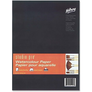 Hilroy Studio Pro Watercolour Paper Pad, 9