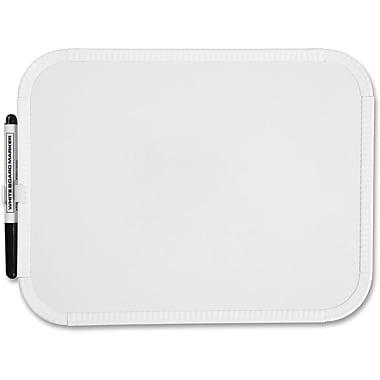 Sparco™ Dry-Erase Board with Marker Holder, Plastic Frame, 8-1/2
