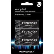 Staedtler Rasoplast Black Erasers, 3/Pack