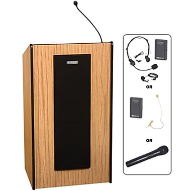 AmpliVox® Presidential Plus Lectern, Medium Oak