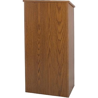 Amplivox Full Height Wood Lectern, Medium Oak