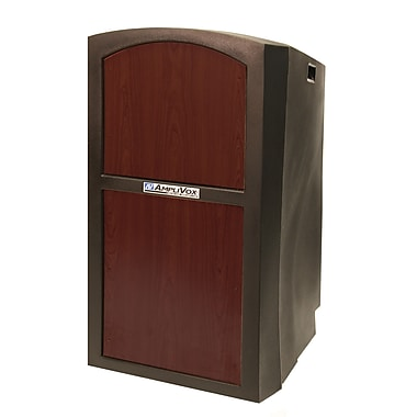 Amplivox Pinnacle Multimedia Lectern Without Sound System, Mahogany
