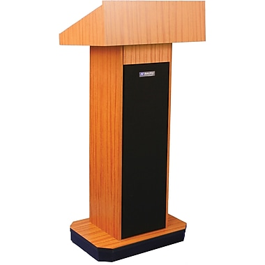 Amplivox Executive Column Lectern Without Sound, Light Oak