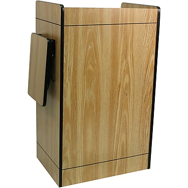 Amplivox Multimedia Computer Lectern Without Sound System, Medium Oak