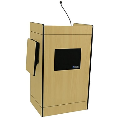 Amplivox Multimedia Computer Lectern With Sound System, Maple