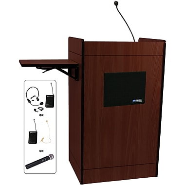 Amplivox Multimedia Computer Lectern With Wireless Sound System