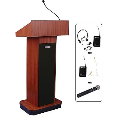 Amplivox Wireless Executive Sound Column Lectern, Mahogany