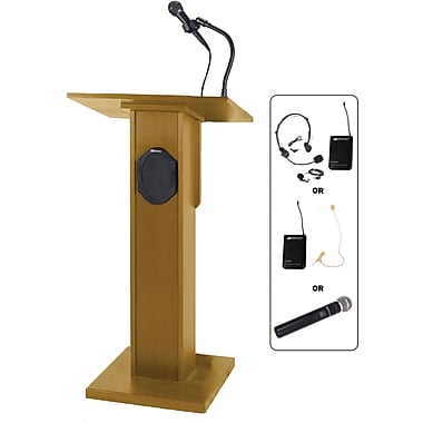 Amplivox Elite Lectern, Medium Oak