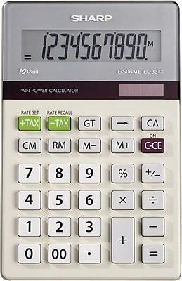 Sharp EL334TB Desktop Calculator, 10 Digit