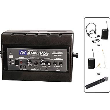 AmpliVox – Ensemble haut-parleur actif Mity Box de 50 W et microphone sans fil