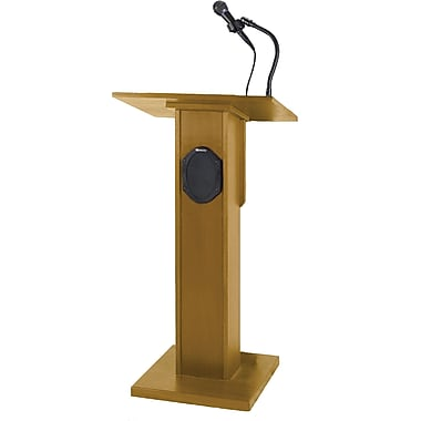 Amplivox Elite Lectern With Sound System, Medium Oak