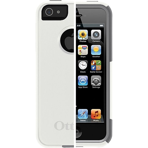 46f144087 OtterBox® Commuter Series Silicone Case For iPhone 5/5S, Glacier/Gunmetal  Gray. https://www.staples-3p.com/s7/is/