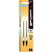 uni-ball Bold Rollerball Refills For Most uni-ball Retractable Rollerball Pens, 2/Pack, Black