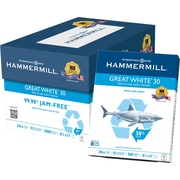 "HammerMill Great White Copy Paper, 8 1/2"" x 11"", Case"