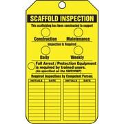 Accuform Signs® - Étiquette « Scaffold Inspection », paq./25